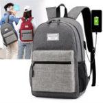 Оригинал Оксфорд Ткань Ноутбук Сумка Рюкзак Travel Сумка С Внешним USB Зарядным Портом Для 13 дюймов Планшет Ноутбука