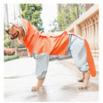 Оригинал All-inclusive Dogs Raincoat Four-legged Waterproof Outdoor Dogs Raincoat For Samoyed/ Golden Retriever /Border Terrier /Labrador Medium Large Size Dogs