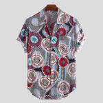 Оригинал Мужская мандала с коротким рукавом с принтом Винтаж Рубашки