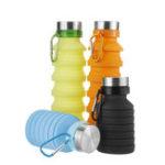 Оригинал 550ML Силиконовый Складная бутылка для воды На открытом воздухе Путешествия Туризм Бег Складная бутылка с водой с Карабин