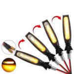 Оригинал 12V мотоцикл Проточный LED Индикатор указателя поворота Янтарный свет Универсальный