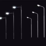Оригинал 5шт Железнодорожный поезд Лампа Мини-аналоговая улица Светодиодный Модель с одной головкой Миниатюрная Лампа