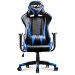 Оригинал Merax Офисный стул High Back Racing Gaming Chair Эргономичный компьютерный стул Кожа PU Регулируемая высота Вращающийся подъемный стул Складной стул
