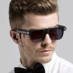 Оригинал SPARDAR V1 720P HD 8G Video Smart Очки блютуз LED Спортивные солнцезащитные очки камера Многофункциональные очки