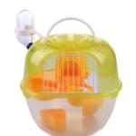 Оригинал Pet Carring Cage Портативная клетка для хомяков в форме яблока Double Deluxe пластик На открытом воздухе Пластиковая клетка для хомяков