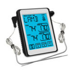 Оригинал MinleafСН-212ДвойнойЗондSmartTouch Screen Управление питанием Термометр БАРБЕКЮ Термометр, которая может установить будильник Термометр