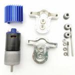 Оригинал 1 комплект Все металлические передачи Коробка Набор с 370 Мотор WPL B16 B24 B36 C24 JJRC Q65 1/16 RC Запчасти