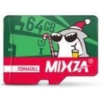 Оригинал Mixza Christmas Shark Limited Edition 64GB U1 Class 10 TF Микро-карта памяти для цифровых зеркальных фотоаппаратов камера TV Коробка MP3