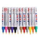 Оригинал 12шт Все цвета краски для шин Перманентная краска Ручка Шинный металл На открытом воздухе Маркировочные чернила Модные