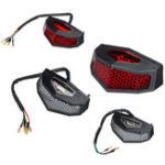 Оригинал 12 В Красный LED мотоцикл ATV Dirt Bike Интегрированный Тормоз Стоп Запуск Задний Фонарь Без Кронштейна