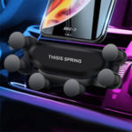 Оригинал Обновление Gravity Linkage Automatic Замок Air Vent Авто Держатель телефона для 4.0-6.5 дюймов Смартфон iPhone XS Макс Samsung Galaxy S10 +