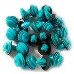 Оригинал 100 Шт. D-18 Синий Авто крепеж Автомобиля Авто Зажим Бампера Фиксатор Крепеж Заклепки Дверной Панели Подкрылок Для BMW Honda