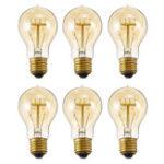 Оригинал 6PCS E27 A19 40 Вт теплый белый с регулируемой яркостью лампы накаливания Эдисон для внутреннего дома Сад AC220V