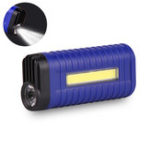 Оригинал XANES® 1W COB LED Flashlight 2 Modes USB Charging 18650 Battery Work Lamp Camping Hunting Portable Torch Light