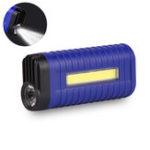 Оригинал XANES® 1W COB LED Flashlight 2 Modes USB Charging 18650 Battery Work Lamp Camping Hunting Portable Torch Light