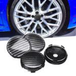 Оригинал 4шт черный ABS углеродного волокна 60 мм / 58 мм универсальная крышка колеса автомобиля центр крышки