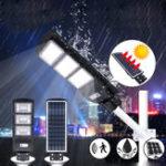 Оригинал 90 Вт LED Солнечная Уличный фонарь Радар Индукция PIR Движение На открытом воздухе Стена Сад Лампа