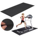 Оригинал 150×75см Черный Беговая дорожка На открытом воздухе Спорт Фитнес Yoga Коврики для беговой дорожки