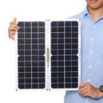 Оригинал 2шт 20W 16V 1.25A Монокристаллический кремниевый задний переход Коробка Солнечная Панель + 4 х пружинных + Кабели