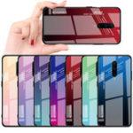 Оригинал BakeeyGradientцветЗакаленноестекло+ Soft ТПУ Задняя крышка Защитная Чехол для OnePlus 7 Pro