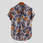 Оригинал Рубашки с короткими рукавами и принтом Art Art