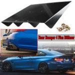 """Оригинал Универсальный ABS Авто Задний бампер 4 Ребра Диффузор Протектор Авто Модификация Спойлер 22 """"х 21"""" Черный"""