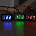 Оригинал DC2,5-30V LCD Дисплей Цифровой измеритель напряжения Водонепроницаемы Пылезащитный 0,4 дюймов LED Цифровой Трубка