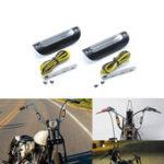 Оригинал 22мм 25мм мотоцикл Янтарный световой индикатор для Harley Glide Touring для 12 16 дюймов Жир Мини-Обезьяна / Batwing Мини-Обезьяна Руль