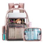 Оригинал Women Transparent Waterproof PVC Beach Bag Backpack