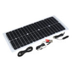 Оригинал 30W 12V Солнечная Power Panel Монокристаллический кремний Полугибкий домашний электричество