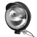 Оригинал 12V Ретро LED мотоцикл Пуля Белые фары Привет / ближний свет Супер яркий свет