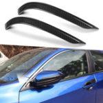 Оригинал 2 X Углеродного Волокна Цвета Двери Боковое Зеркало Крышка Наклейки Автомобиля Отделка Для Honda Civic 2016-18