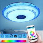 Оригинал 50см 36Вт RGB LED Потолочный светильник Bluetooth Music Speaker Лампа Дистанционный APP Control