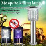 Оригинал Солнечный Фиолетовый LED Электрический Шок Москит Интеллектуальный Свет-c