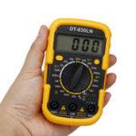 Оригинал DT-830LN 3 1/2 Mini Digital Мультиметр Амперметр переменного / постоянного тока LCD Подсветка Дисплей