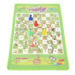 Оригинал Змея Лестница Интересная Настольная Игра Игрушка Набор Портативный Летающий Шахматная Доска Развивающие Детские Игрушки