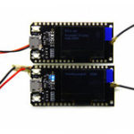 Оригинал 2 шт. TTGO LORA32 868 МГц ESP32 LoRa OLED 0,96 дюймов Синий Дисплей Bluetooth WIFI ESP-32 Модуль платы разработки с Антенна