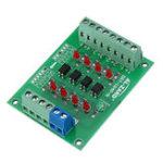 Оригинал 3шт 12В до 3.3В 4-канальный оптрон Изолирующая плата Изолированный модуль PNP Выход PLC Уровень сигнала Преобразователь напряжения