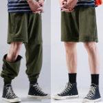 Оригинал Мужские переключаемые длинные шорты Брюки Fashion Доставка Брюки