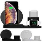 Оригинал Bakeey 3 в 1 Fast QI Беспроводное зарядное устройство Подставка для док-станции для iPhone 8 X XS Часы iwatch Airpod