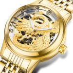 Оригинал TEVISE90063DPhoenixДисплейАвтоматические часы Механический