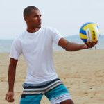 Оригинал Mens Summer Surfing Breathable Crew Шея Купальный костюм