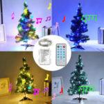 Оригинал На батарейках с голосовым управлением 5M 10M LED Рождественская вечеринка Fairy String Праздник света в помещении Декор