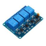 Оригинал Geekcreit® 24 В 4-х канальный релейный модуль для Arduino PIC ARM DSP AVR MSP430