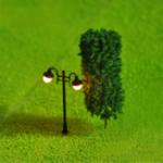 Оригинал 5шт мини уличный фонарь Лампа смола ремесло античная имитация фея Сад домашняя миниатюрная DIY микро пейзаж