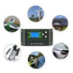 Оригинал ШИМ 10/20/30A 12 В / 24 В Авто Солнечная Контроллер заряда LCD Дисплей Батарея Зарядка Солнечная Контроллер Двойной порт USB 2.5A с подсветкой