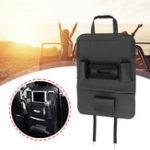 Оригинал 700 X 400 мм Черная кожа Авто Органайзеры для хранения спинок сидений