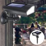 Оригинал  2 в 1 Солнечная Ландшафтный прожектор LED Манекен камера Настенный светильник Датчик Лампа