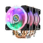 Оригинал Aurora Colorful с подсветкой 3-контактный 3 вентилятора 4 Медь Трубка Радиатор с двумя башнями, вентилятор охлаждения, радиатор охлаждения для Intel