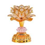 Оригинал 52 буддийские песни буддийская молитва Лампа с Colorful LED Lotus Music Light Подарочные украшения